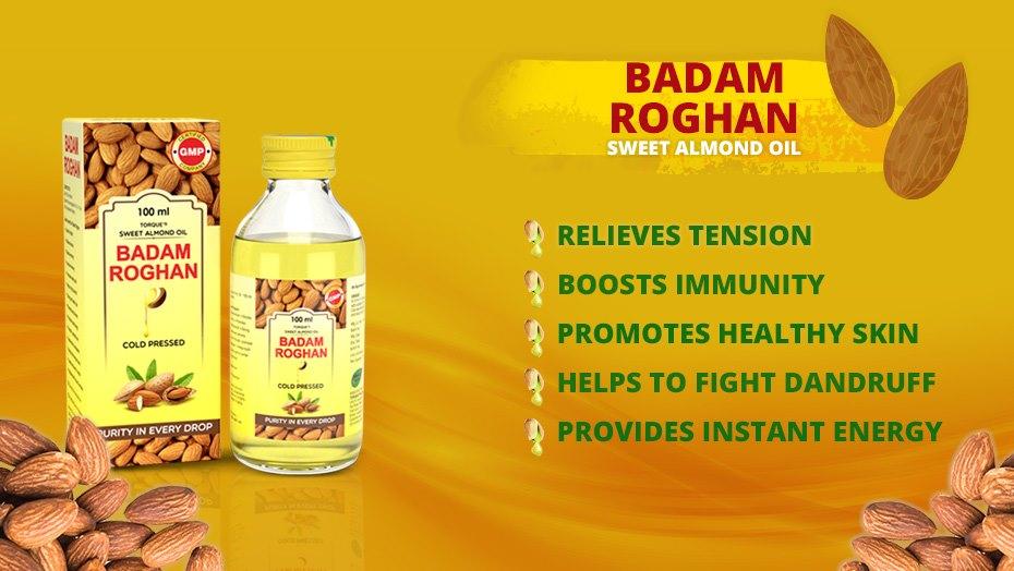 Importance of badam organ almond oil